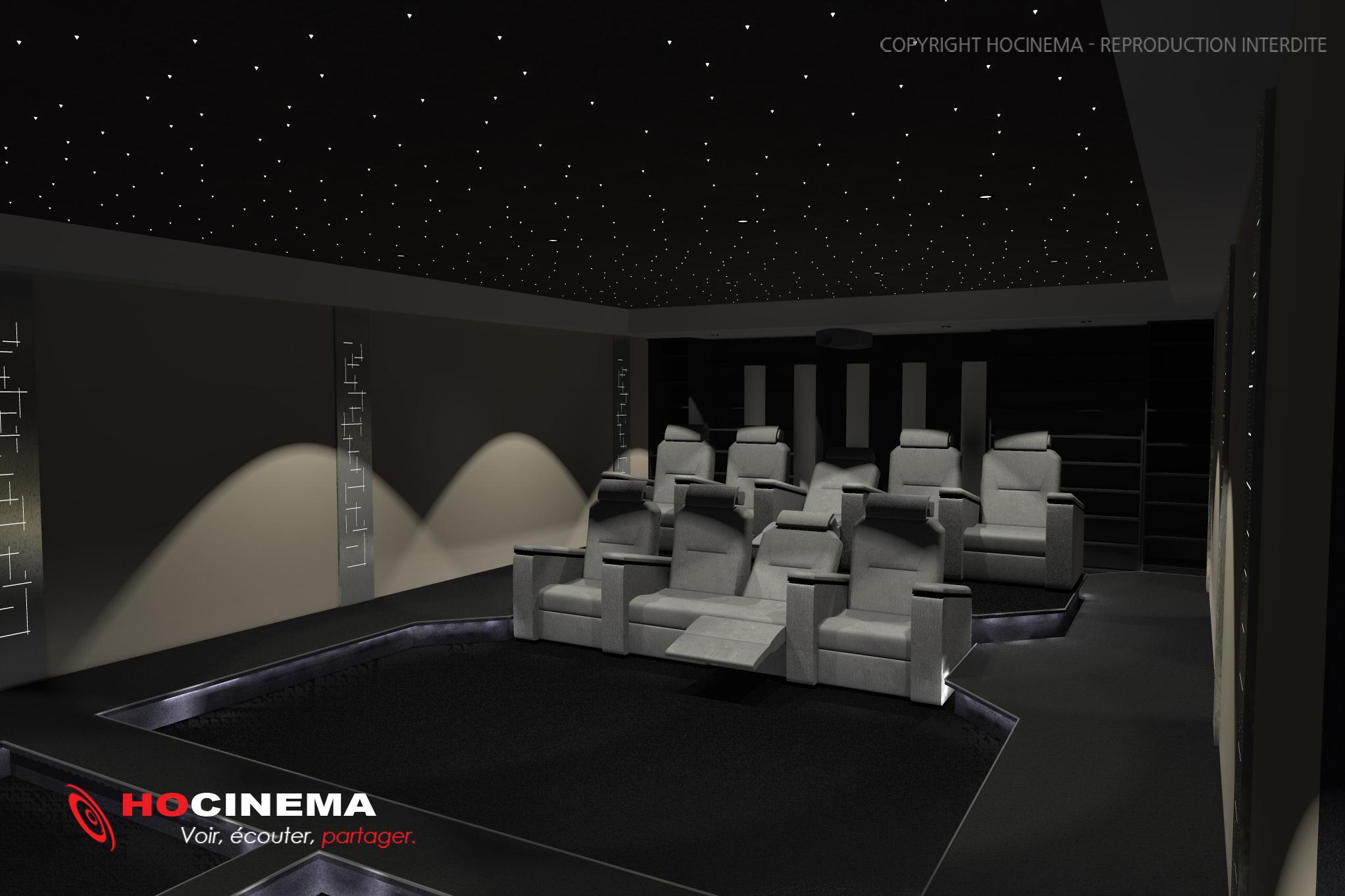 des salles de cin ma la maison r alis es sur mesure. Black Bedroom Furniture Sets. Home Design Ideas