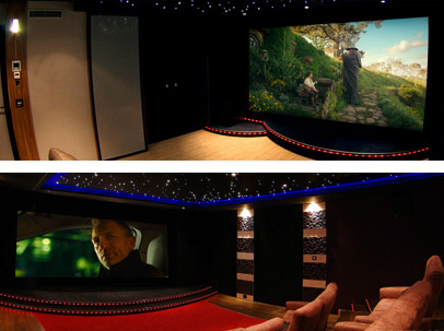 ecran transonore enceintes cr ation de salle home cinema. Black Bedroom Furniture Sets. Home Design Ideas