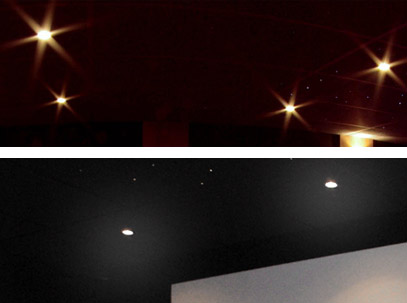une ambiance lumineuse unique dans votre salle cinema maison. Black Bedroom Furniture Sets. Home Design Ideas