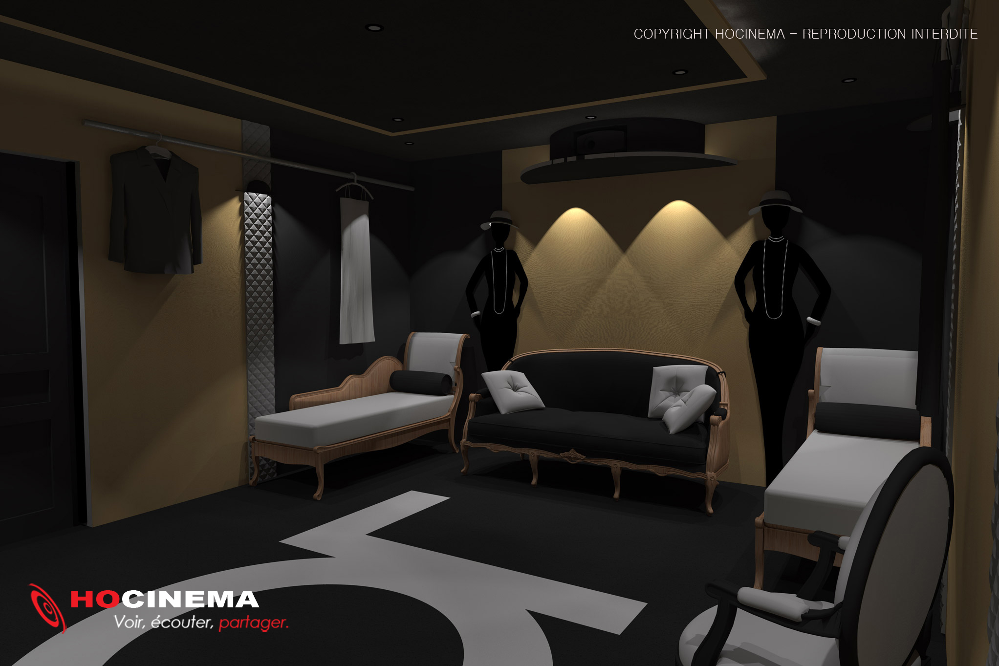 le concept 03f un cin ma priv r alis sur mesure. Black Bedroom Furniture Sets. Home Design Ideas
