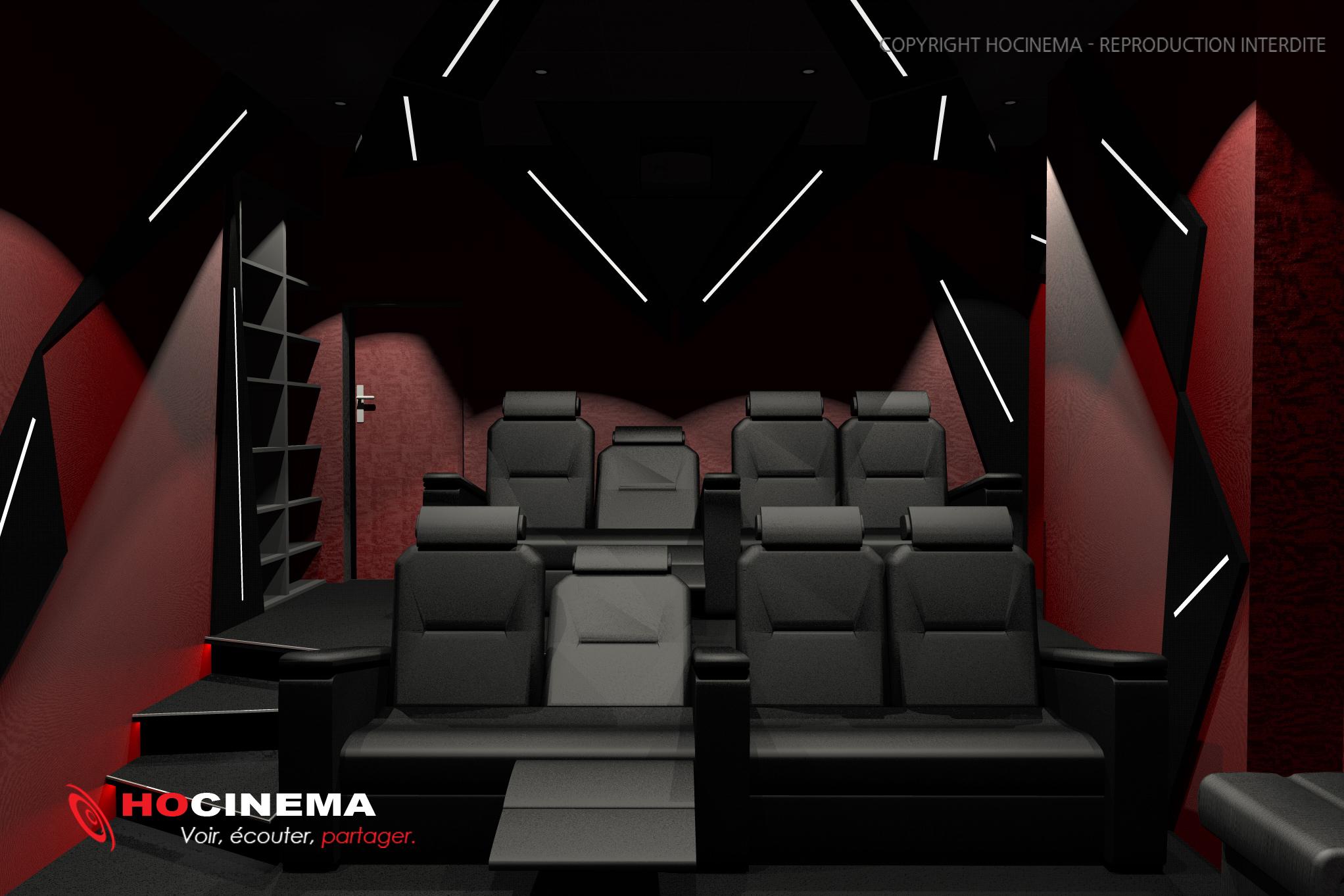 le concept 02g une salle de cin ma chez soi r alis e sur mesure. Black Bedroom Furniture Sets. Home Design Ideas