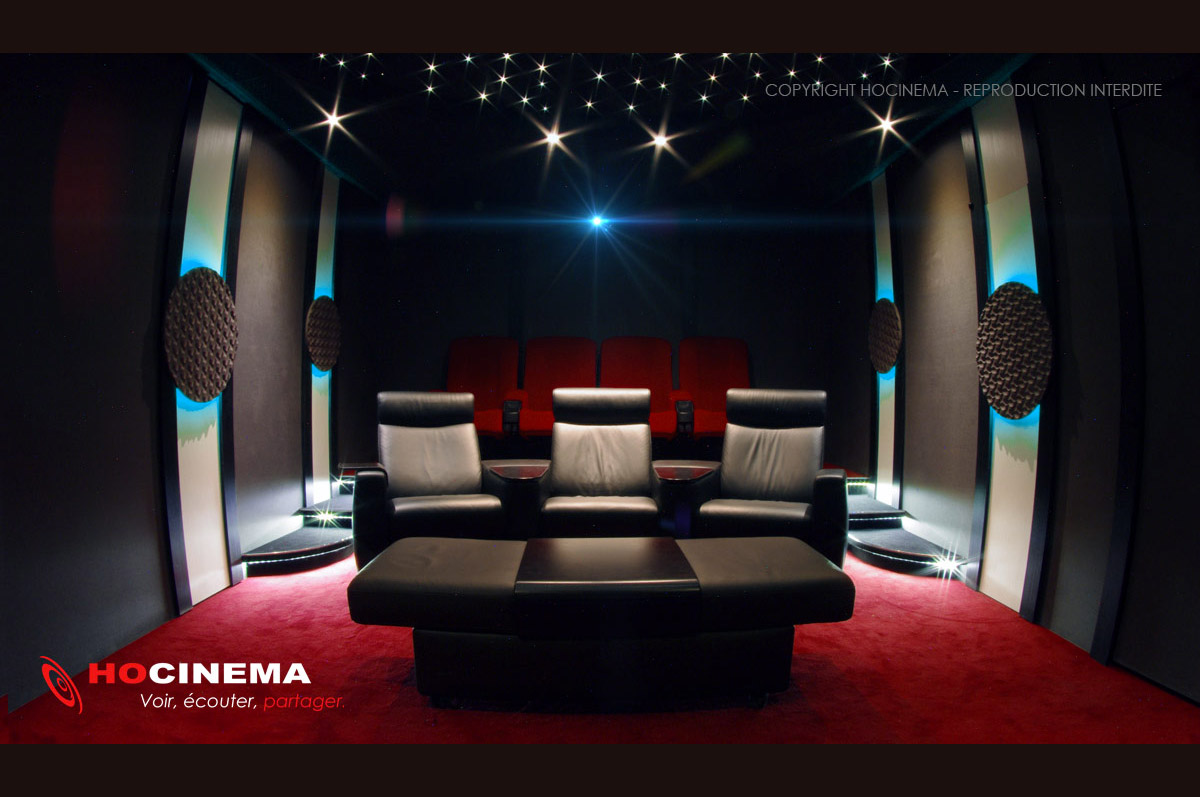 Hocinema la salle de cin ma maison centaurus en d tail - Salle cinema maison ...