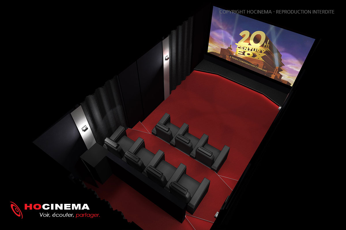 le concept 07a une salle cin ma maison r alis e sur mesure. Black Bedroom Furniture Sets. Home Design Ideas