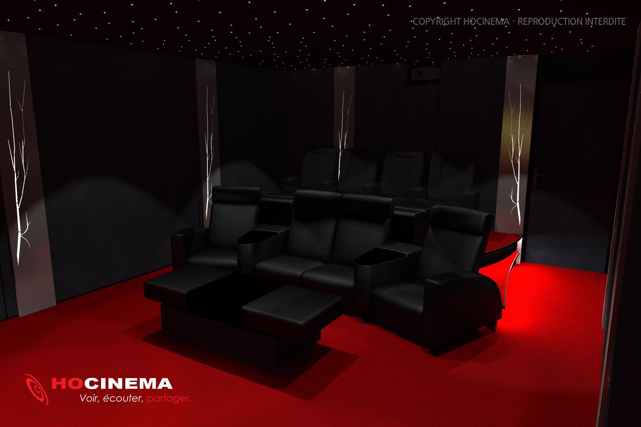 le concept 08a une salle cin ma maison r alis e sur mesure. Black Bedroom Furniture Sets. Home Design Ideas