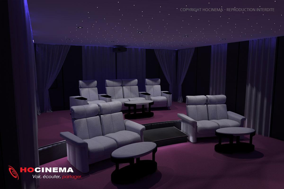 Decoration salle de cinema maison top amenager une salle - Salle cinema maison ...