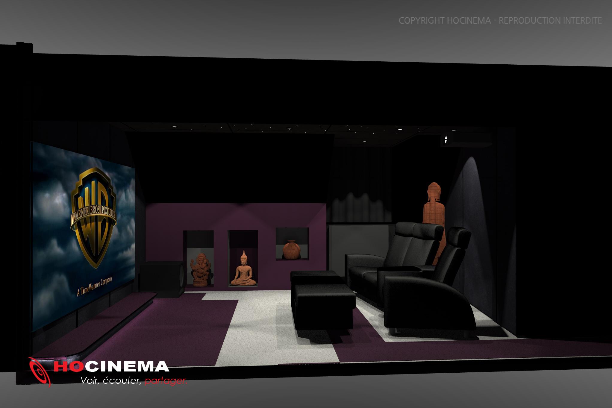 Le concept 04d une salle cin ma maison r alis e sur mesure - Salle cinema maison ...