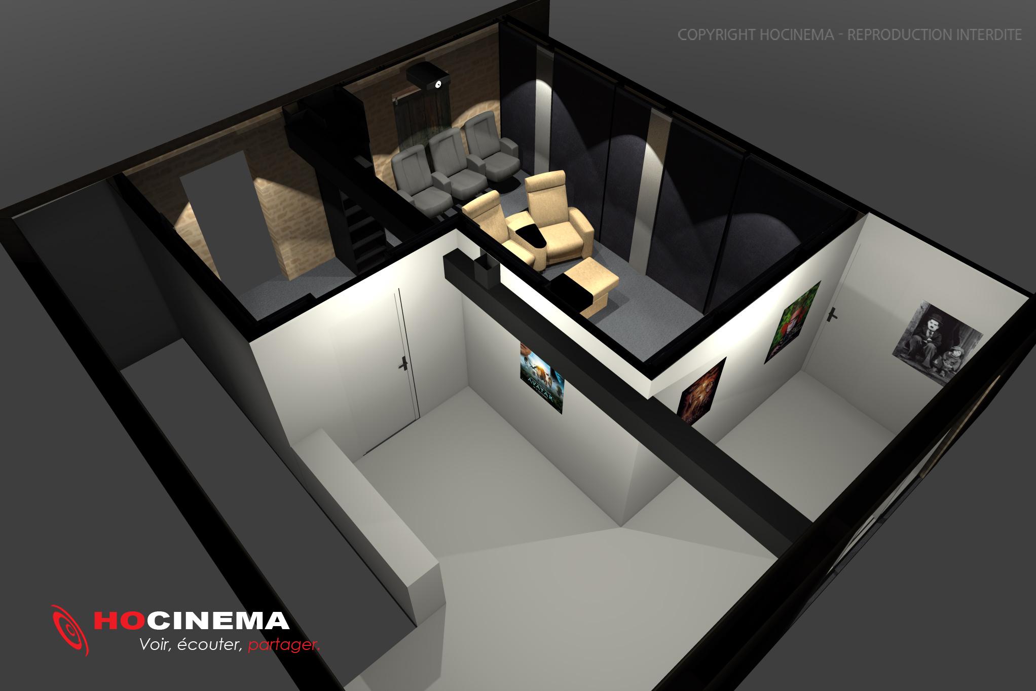 le concept 05d une salle cin ma maison r alis e sur mesure. Black Bedroom Furniture Sets. Home Design Ideas