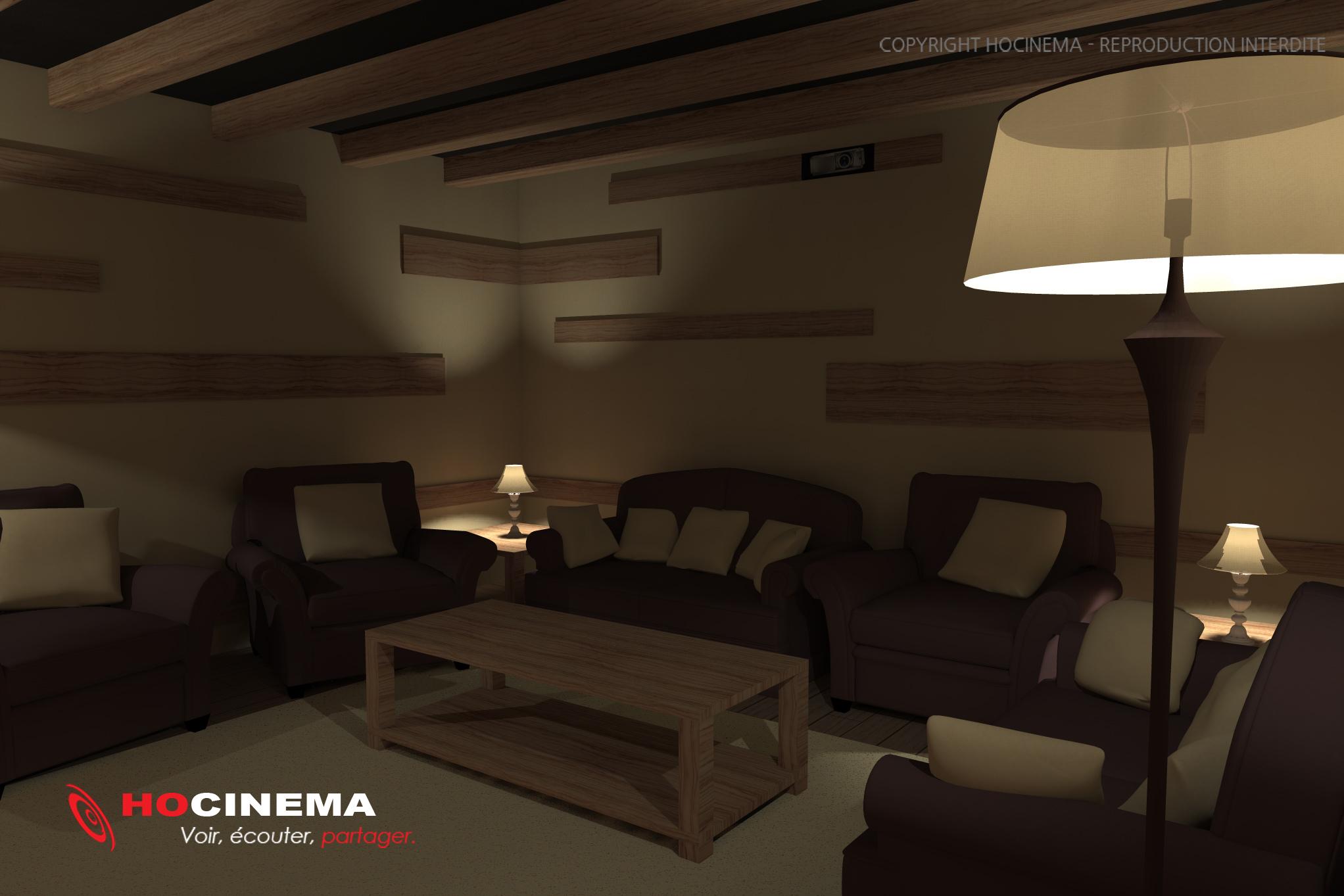Le concept 06d une salle cin ma maison r alis e sur mesure - Salle cinema maison ...
