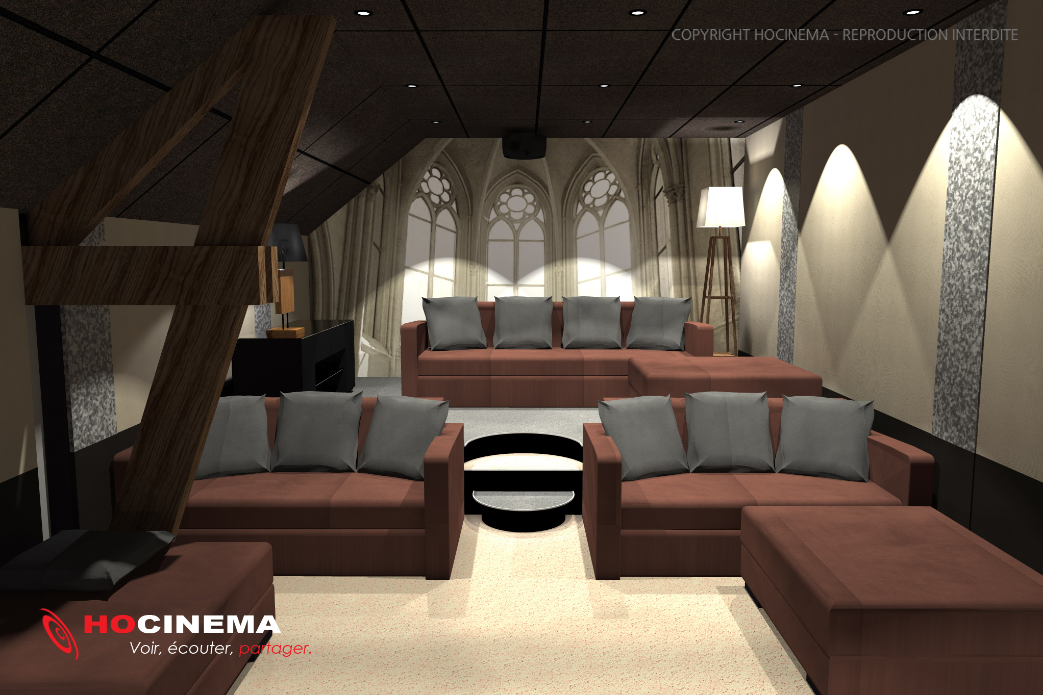 salle cinema maison hocinema la salle de cin ma maison lynx en d tail le concept 07d une salle. Black Bedroom Furniture Sets. Home Design Ideas