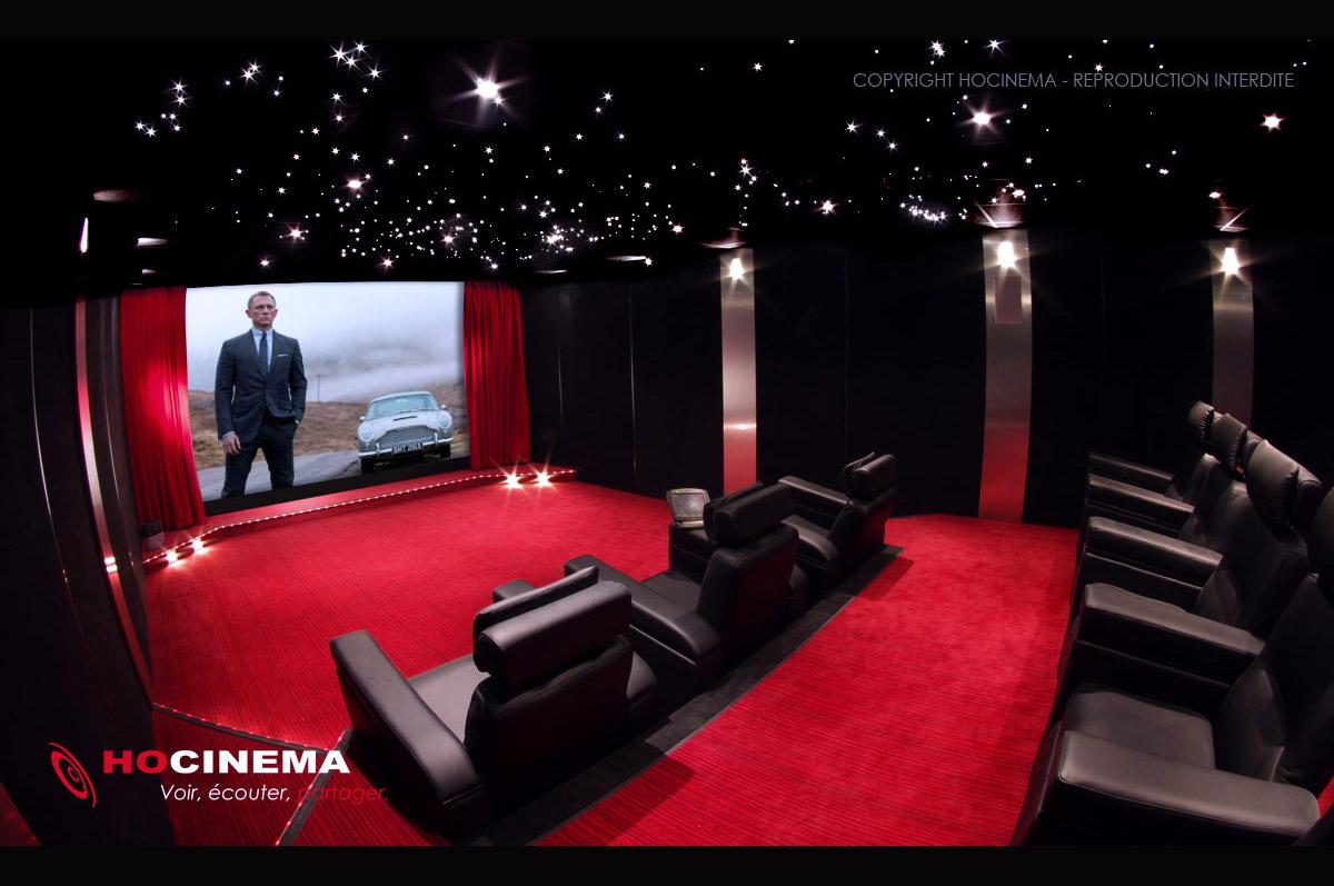 Hocinema la salle de cin ma priv e borealis en d tail - Salle de cinema privee ...