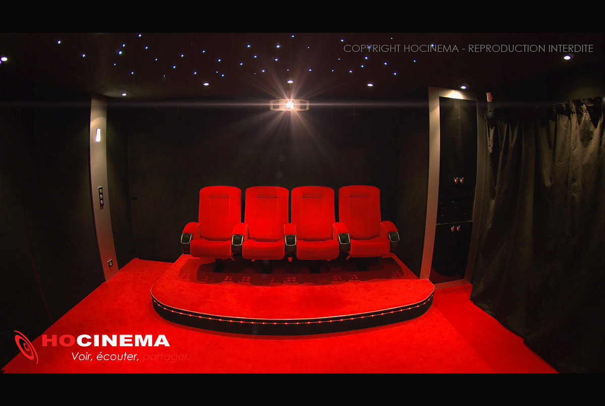 Deco Salle Cinema hocinema, la salle home cinéma aquila en détail
