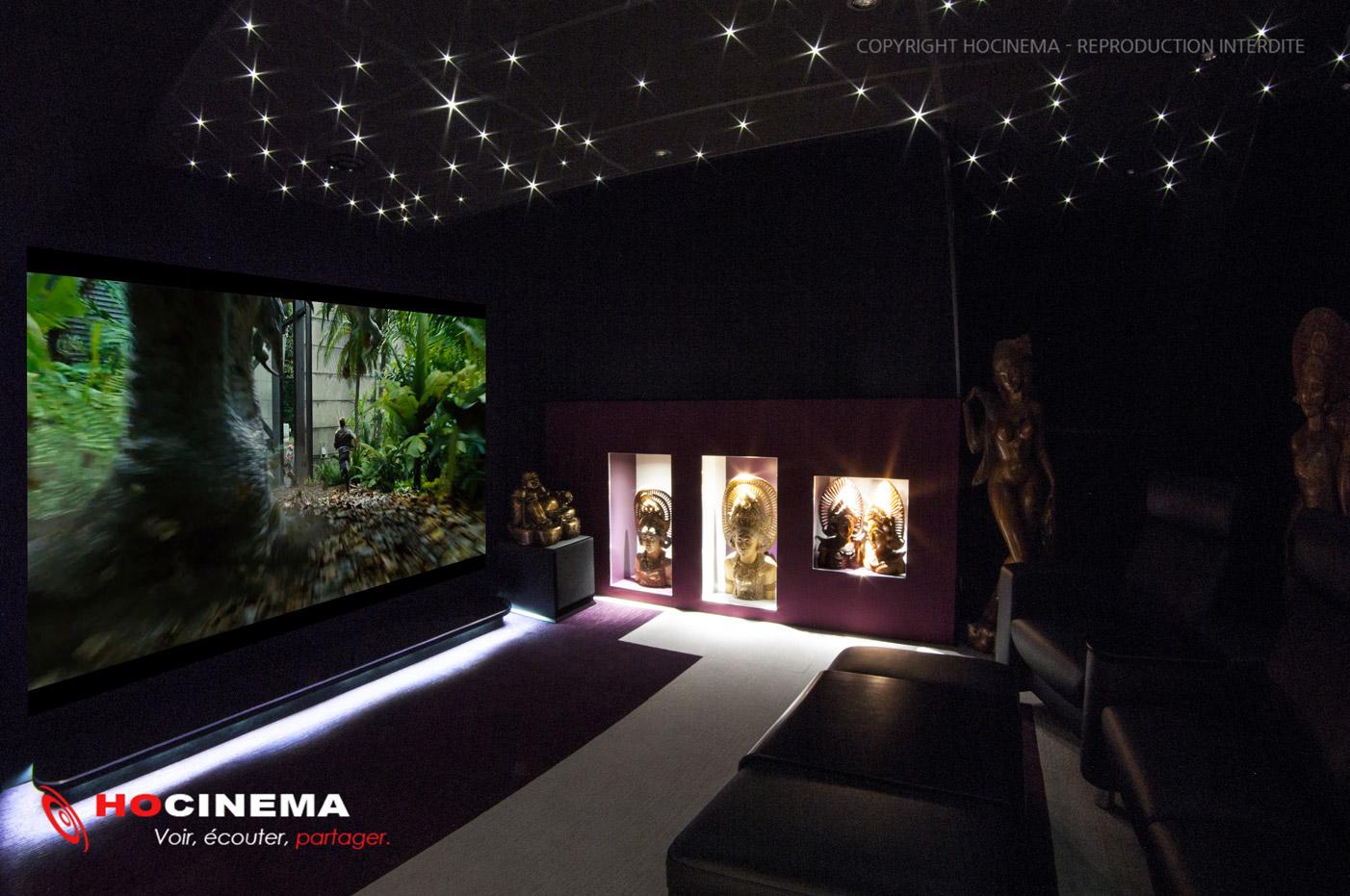 HOCINEMA, la salle home cinéma Carina en détail